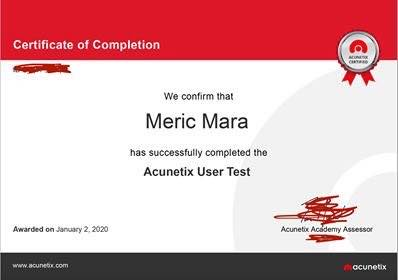 We are Acunetix Certified